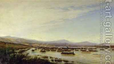 The Russian Army crossing the Danube in June 1877 by Aleksei Petrovich Bogolyubov - Reproduction Oil Painting