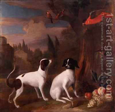 Two Dogs in a Landscape by (after) Boggi, Giovanni - Reproduction Oil Painting