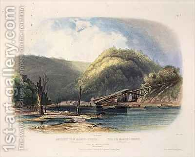 View of Mauch-Chunk, Pennsylvania by (after) Bodmer, Karl - Reproduction Oil Painting