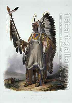 Mato-Tope, a Mandan Chief by (after) Bodmer, Karl - Reproduction Oil Painting