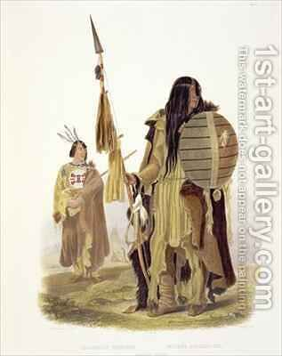 Assiniboin Indians by (after) Bodmer, Karl - Reproduction Oil Painting