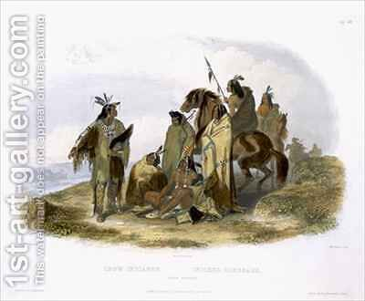 Crow Indians by (after) Bodmer, Karl - Reproduction Oil Painting
