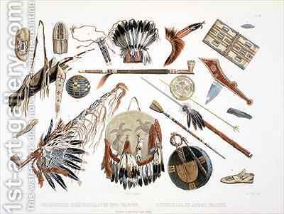 Indian Utensils and Arms by (after) Bodmer, Karl - Reproduction Oil Painting