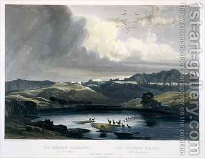 The White Castels on the Upper Missouri by (after) Bodmer, Karl - Reproduction Oil Painting