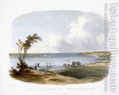 Entry to the Bay of New York taken from Staten Island by (after) Bodmer, Karl - Reproduction Oil Painting