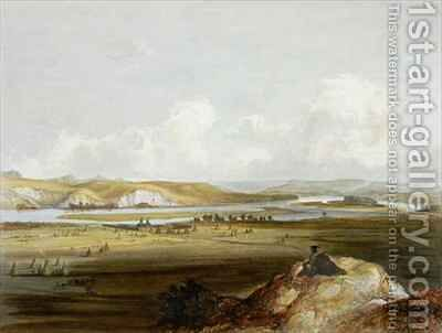 Fort Pierre on the Missouri by (after) Bodmer, Karl - Reproduction Oil Painting