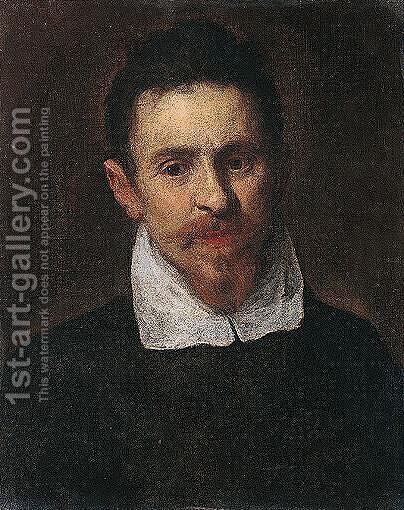 Portrait Of A Bearded Man, Head And Shoulders by Jacopo d'Antonio Negretti (see Palma Giovane) - Reproduction Oil Painting