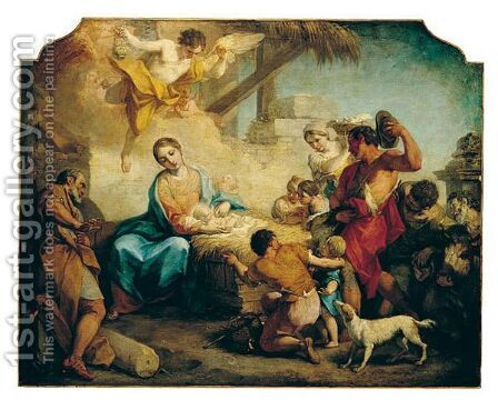 The Adoration Of The Shepherds by Antonio Balestra - Reproduction Oil Painting