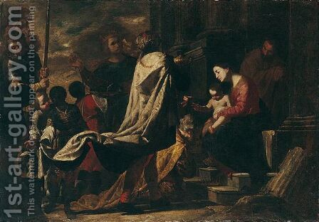 The Adoration Of The Magi by Bernardo Cavallino - Reproduction Oil Painting