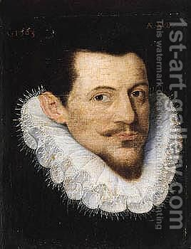 Portrait Of A Man, Bust Length, Wearing Black by (after) Frans, The Elder Pourbus - Reproduction Oil Painting