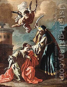 The Martyrdom Of Saint Barbara by (after) Francesco Solimena - Reproduction Oil Painting