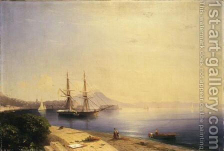 Ship Moored In The Bay Of Naples by Ivan Konstantinovich Aivazovsky - Reproduction Oil Painting