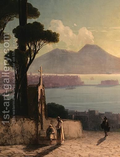 The Bay Of Naples 3 by Ivan Konstantinovich Aivazovsky - Reproduction Oil Painting