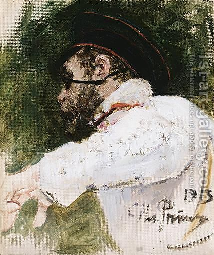 Study Of A Bearded Man In Peaked Cap by Ilya Efimovich Efimovich Repin - Reproduction Oil Painting