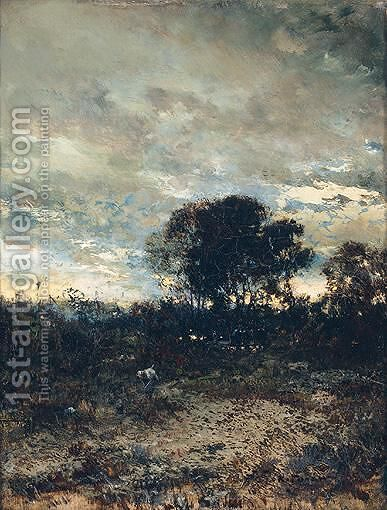 Landscape At Dusk by Ivan Pavlovich Pokhitonov - Reproduction Oil Painting
