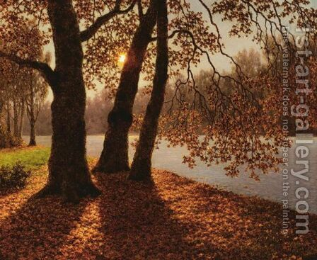 Golden Autumn by Ivan Fedorovich Choultse - Reproduction Oil Painting