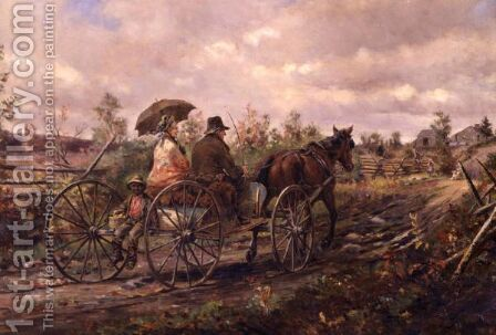 Sight Of Home by Edward Lamson Henry - Reproduction Oil Painting