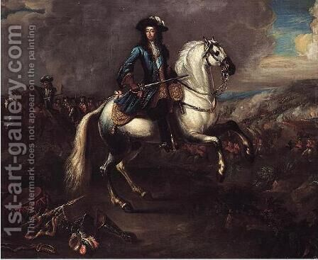 William III At The Battle Of The Boyne by Jan Wyck - Reproduction Oil Painting