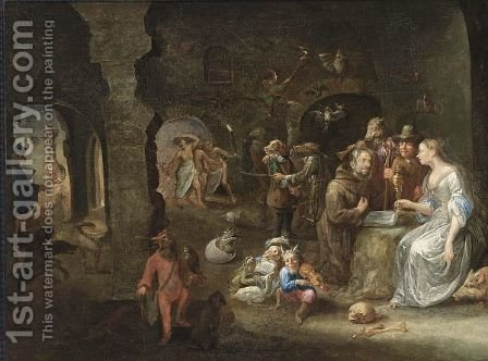 The Temptation Of St. Anthony by (after) Joos Van Craesbeeck - Reproduction Oil Painting