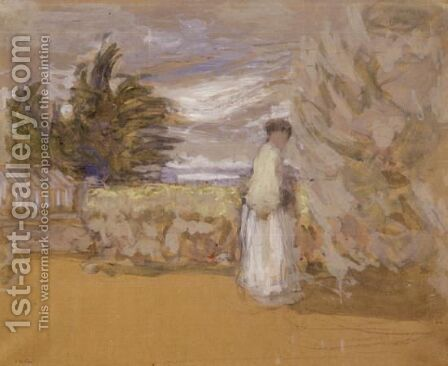 Femme Au Jardin by Edouard  (Jean-Edouard) Vuillard - Reproduction Oil Painting