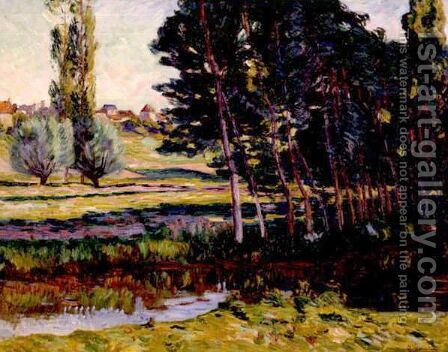 Paysage by Armand Guillaumin - Reproduction Oil Painting