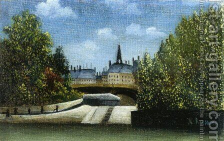 L'Ile De La Cite by Henri Julien Rousseau - Reproduction Oil Painting