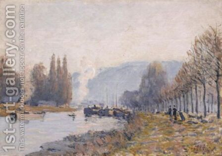 La Seine A Bougival by Alfred Sisley - Reproduction Oil Painting