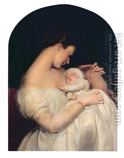 Mother And Child 2 by (after) James Sant - Reproduction Oil Painting