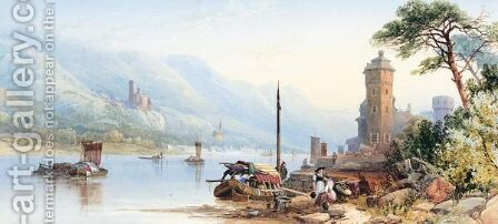 On The Rhine by James Burrell Smith - Reproduction Oil Painting