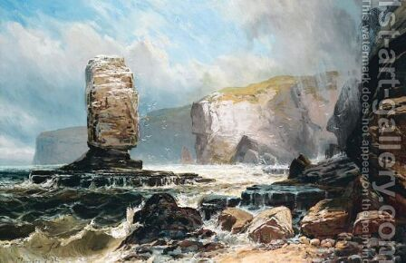 The Old Man Of Hoy by Clarence Roe - Reproduction Oil Painting