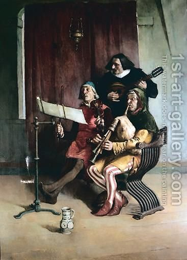 The Rehearsal by Constant Mayer - Reproduction Oil Painting