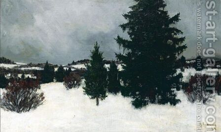 Winter Landscape And 'October', North Of Russia by Alexander Anichkov - Reproduction Oil Painting
