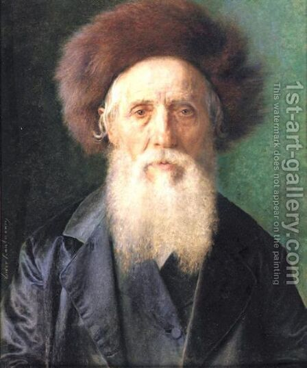 Portrait Of A Rabbi 2 by Isidor Kaufmann - Reproduction Oil Painting