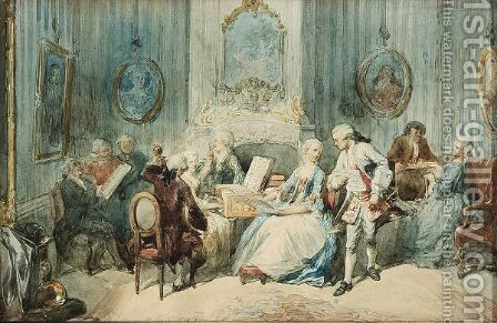 Elegant Figures In An Interior by Herman Frederik Carel ten Kate - Reproduction Oil Painting
