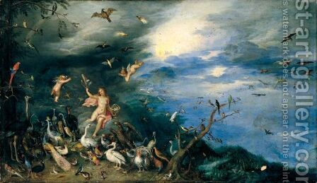 The Element Of Air by Jan, the Younger Brueghel - Reproduction Oil Painting