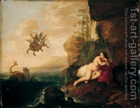 Perseus And Andromeda by Abraham van Cuylenborch - Reproduction Oil Painting