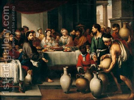 The Marriage Feast At Cana by (after) Murillo, Bartolome Esteban - Reproduction Oil Painting