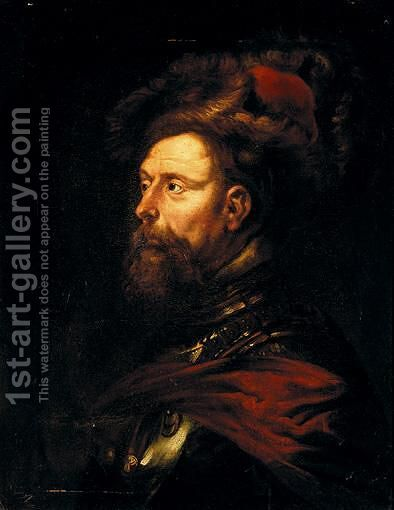 Portrait Of A Warrior by (after) Sir Peter Paul Rubens - Reproduction Oil Painting