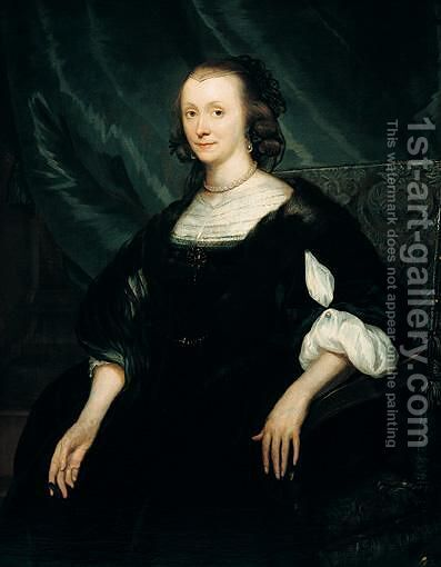 Portrait Of Lydewina Teding Van Berkhout (1607-1665) by (after) Jan De Baen - Reproduction Oil Painting