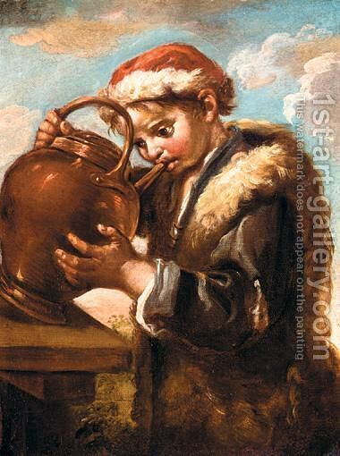 Allegory Of Taste by (after) Bernardo Keilhau - Reproduction Oil Painting