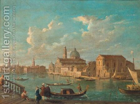 Venice, A View Of The Isola Di San Michele From Murano by (after) Michele Marieschi - Reproduction Oil Painting