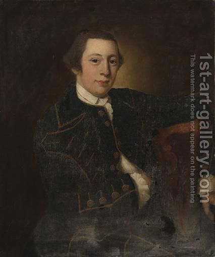 Portrait Of A Gentleman by (after) Robert Edge Pine - Reproduction Oil Painting