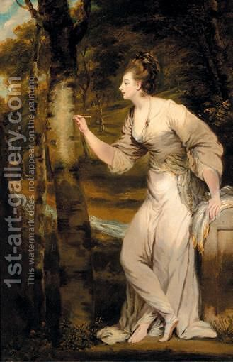 Portrait Of Mrs Lloyd by (after) Sir Joshua Reynolds - Reproduction Oil Painting