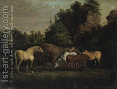 Brood Mares by (after) Stubbs, George - Reproduction Oil Painting