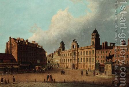 Northumberland House, Charing Cross by (after) John Paul - Reproduction Oil Painting