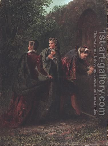 The Escape Of Mary Queen Of Scots by Charles Stuart - Reproduction Oil Painting