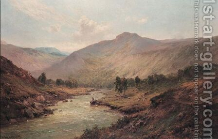 The Valley Of The Dee by Alfred de Breanski - Reproduction Oil Painting