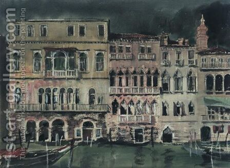 The Palace, Venice By Night by James Miller - Reproduction Oil Painting