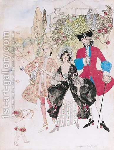 The Suitors by Dorothy Carleton Smyth - Reproduction Oil Painting