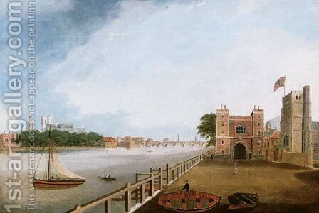 The Thames From Lambeth by Daniel Turner - Reproduction Oil Painting